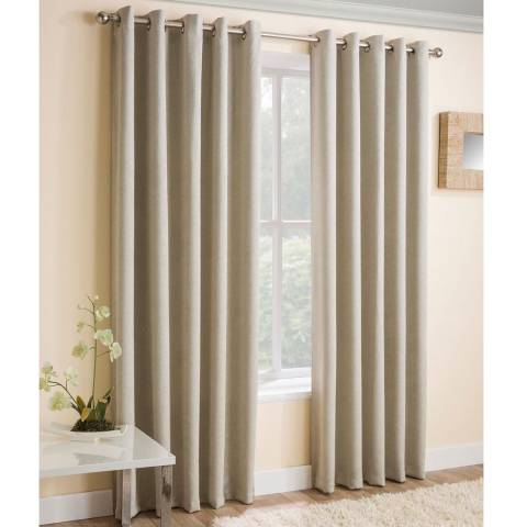 Enhanced Living Vogue Pair of 168 X 137 Blockout Curtains, Cream