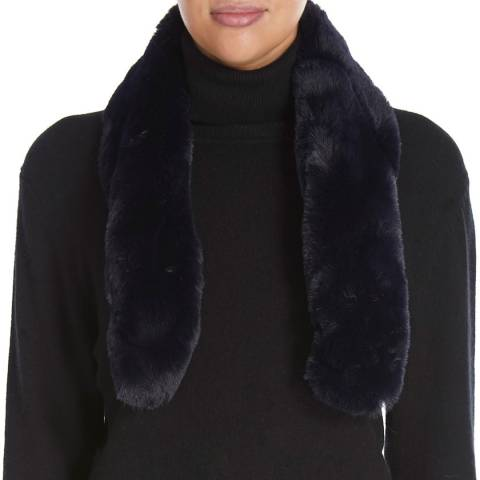 JayLey Collection Navy Faux Fur Scarf