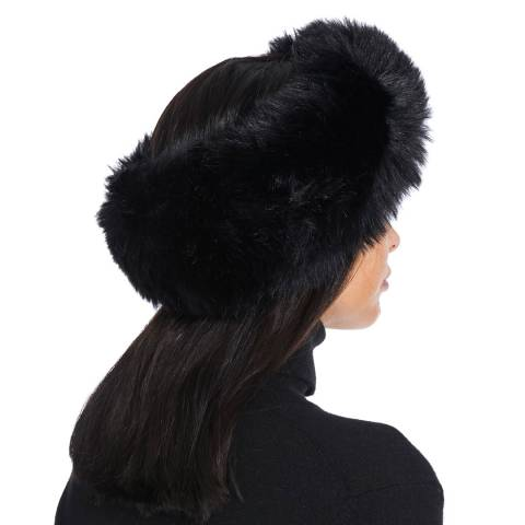 JayLey Collection Black  Faux Fur Headband