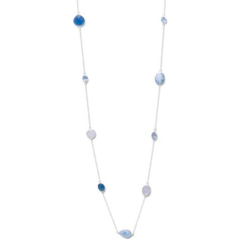 Liv Oliver Blue Gemstone Necklace
