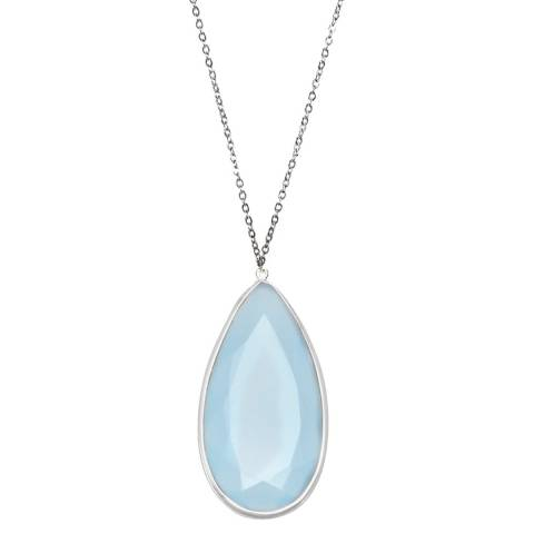 Alexa by Liv Oliver Blue Chalcedony Drop Necklace