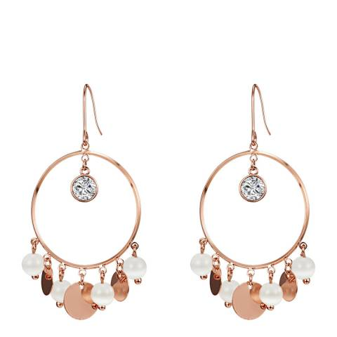 Tassioni Rose Gold Drop Earrings