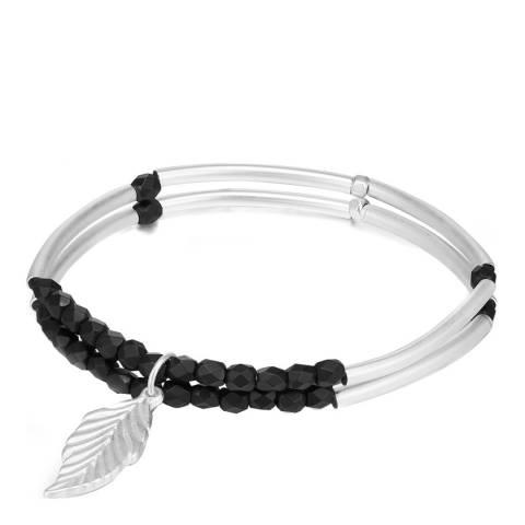 Runway Silver/Black Bead Bracelet