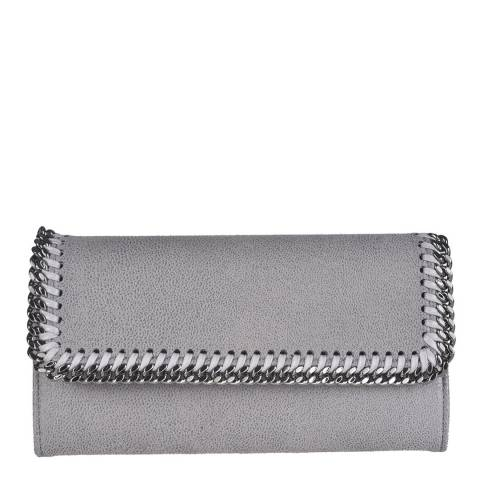 Stella McCartney Grey Falabella Continental Flap Wallet