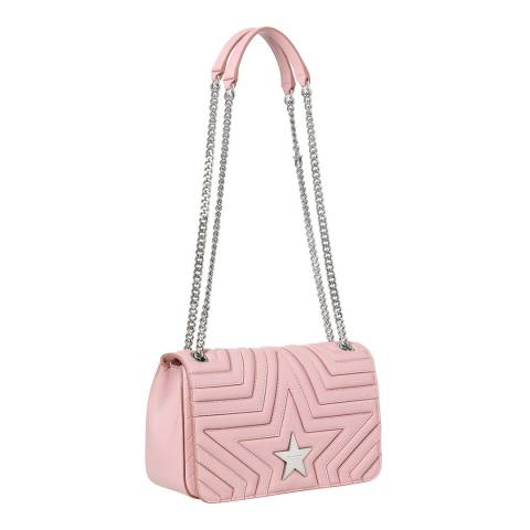 Stella McCartney Pink Star Medium Quilted Shoulder Bag