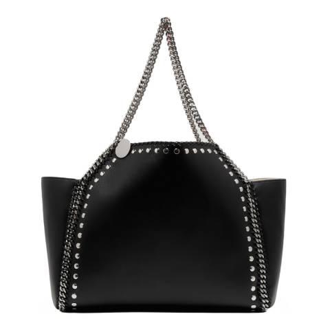 Stella McCartney Black/White Falabella Studded Reversible Tote Bag