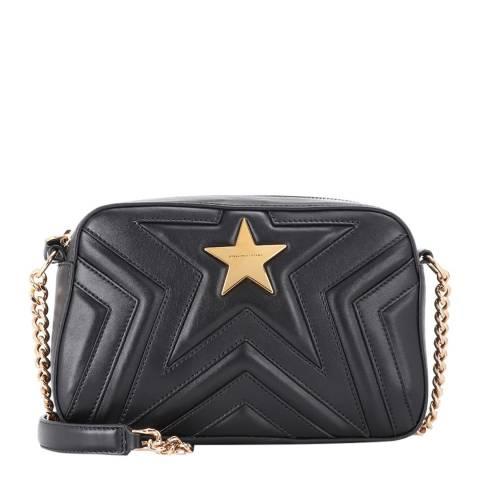 Stella McCartney Black Small Stella Star Shoulder Ba