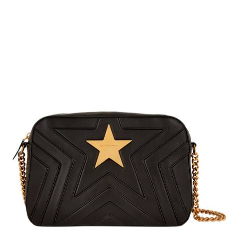Stella McCartney Black Star Medium Quilted Shoulder Bag