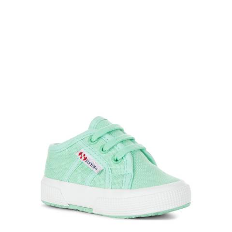 Superga Pastel Green Lace Up Trainer