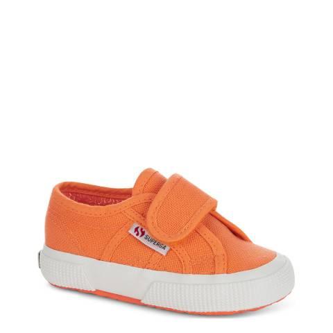 Superga Kids Orange Clay Strap Trainer