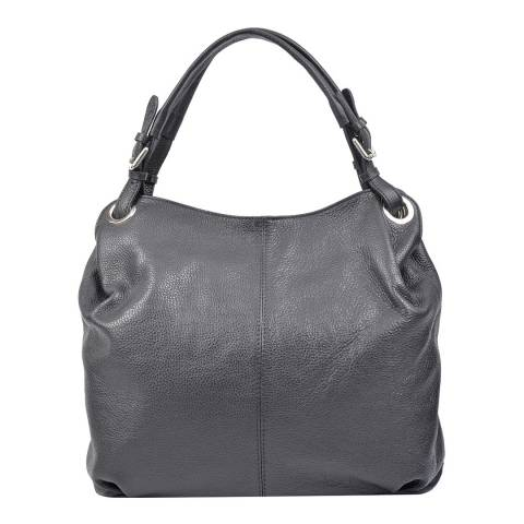 Carla Ferreri Black Leather Tote Bag