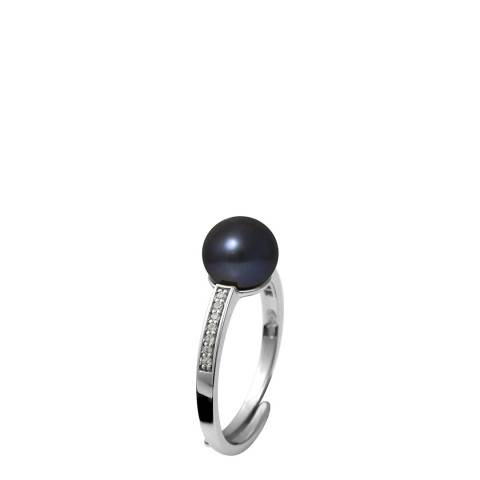 Ateliers Saint Germain Black Freshwater Pearl / Zirconium Ring