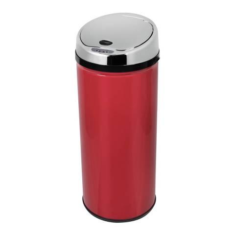 Morphy Richards Poppy Red Round Sensor Bin, 42L