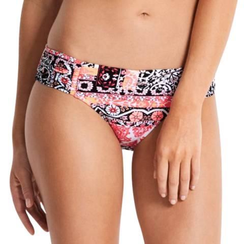 Seafolly Black Ruched Side Retro Bikini Briefs