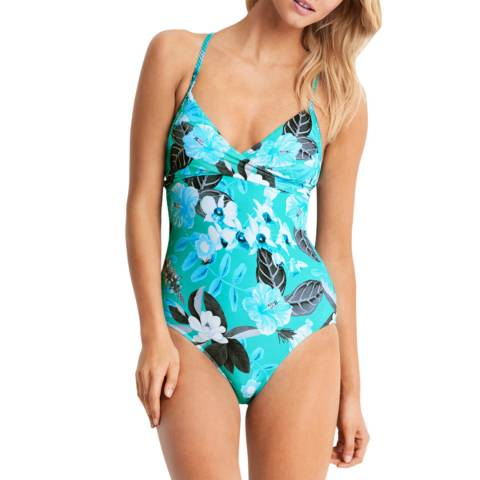 Seafolly Tropical Vacay Wrap Front Maillot