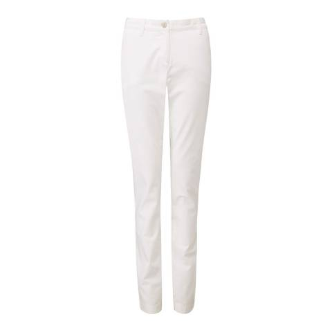 Pure Collection Washed Cotton Chino White      08L