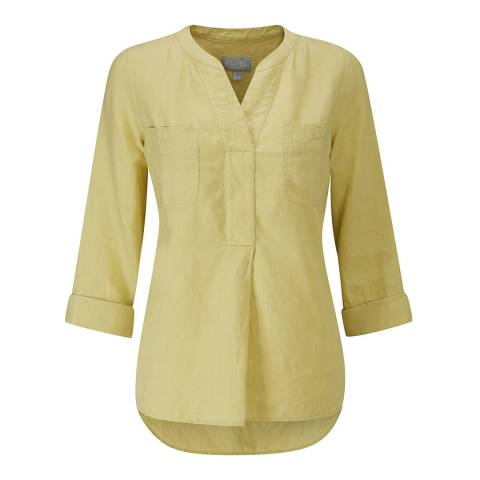 Pure Collection Pistachio Linen Pocketed Blouse