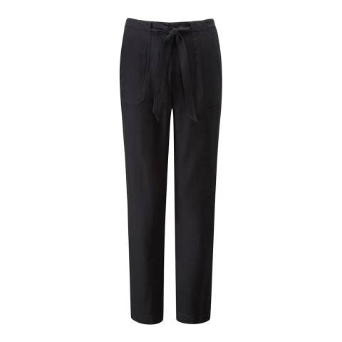 Pure Collection Black Pocketed Tapered Trousers