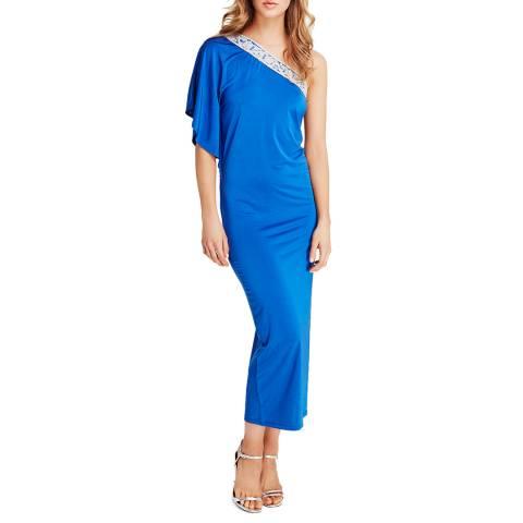 Elizabeth Hurley Beach Blue Crystal Dress