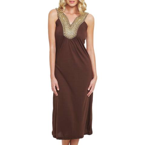 Elizabeth Hurley Beach Chocolate Jemima Maxi Dress