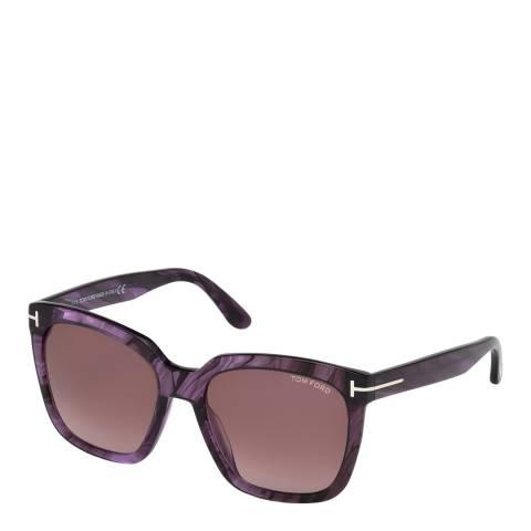 Tom Ford Women's Purple Amarra Sunglasses 55mm