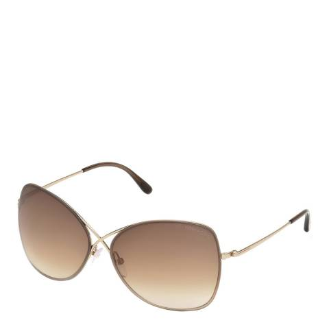 Tom Ford Women's Gold Tom Ford Sunglasses 63mm