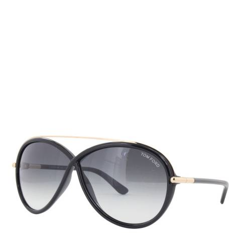 Tom Ford Women's Shiny Black/Grey Gradient Tamara Sunglasses 64mm