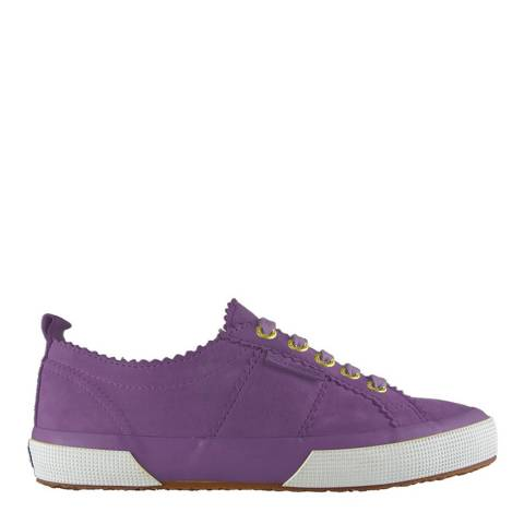 Superga Women's Purple Suede Scalloped 2750 Trainers