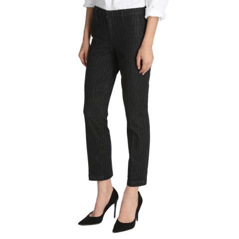 J Brand Grey Pinstripe Clara Trousers