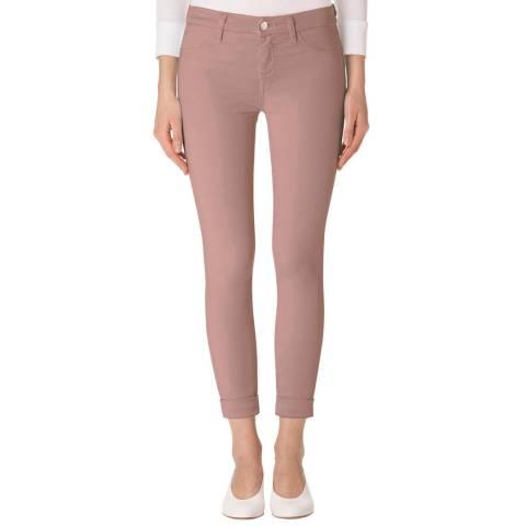 J Brand Vinca Pink Anja Cropped Skinny Stretch Jeans