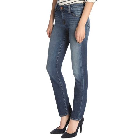 J Brand Idolize Navy Maude Cigarette Stretch Jeans