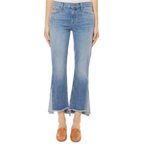 J Brand Blue Aubrie Cropped Bootcut Stretch Jeans