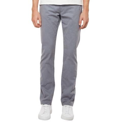 J Brand Drawbridge Grey Kane Straight Fit Stretch Jeans