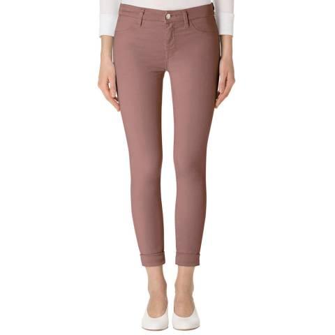 J Brand Pottery Pink Anja Cropped Skinny Stretch Jeans
