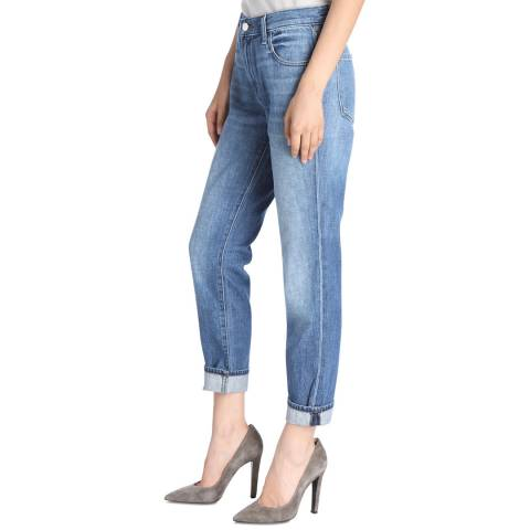 J Brand Mimic Blue Johnny Boyfit Cotton Jeans