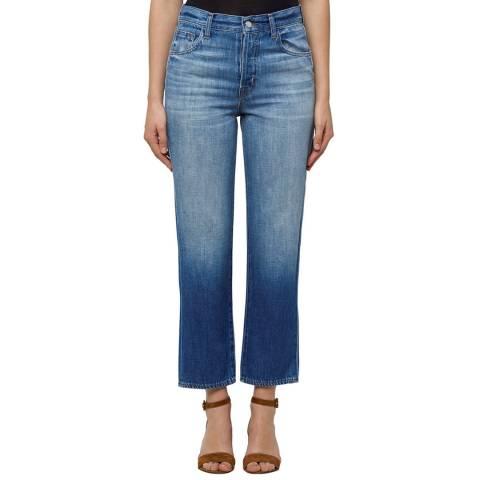 J Brand Mimic Blue Wynne Cropped Straight Jeans