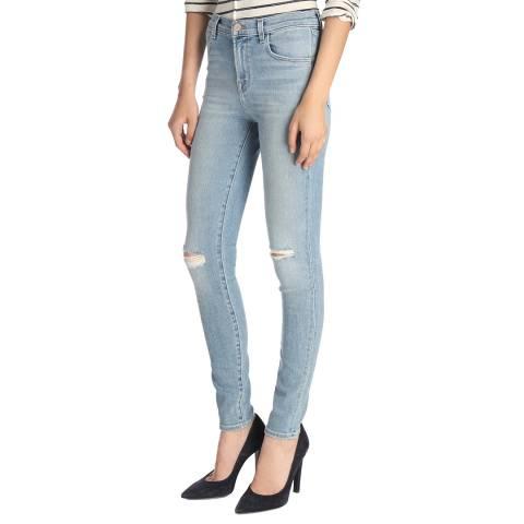 J Brand Surge Destruct Blue Maria Stretch Skinny Jeans