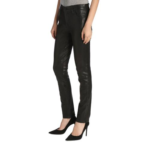 J Brand Black Maude Cigarette Leather Jeans