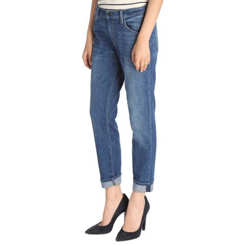J Brand Striker Blue Johnny Boyfit Stretch Jeans