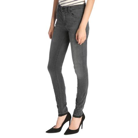 J Brand Ingenious Grey Alana Cropped Skinny Stretch Jeans