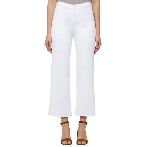 J Brand Optic White Joan Wide Leg Jeans