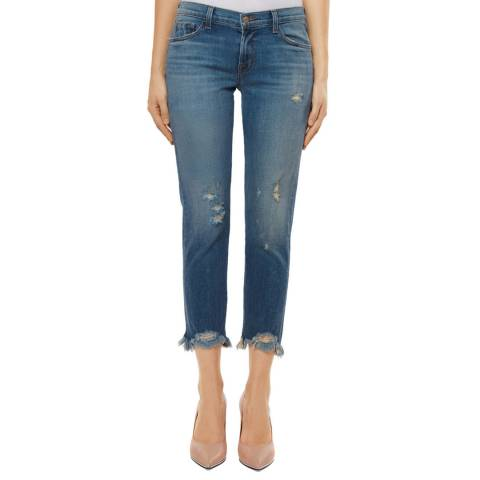 J Brand Ardent Blue Sadey Slim Straight Stretch Jeans