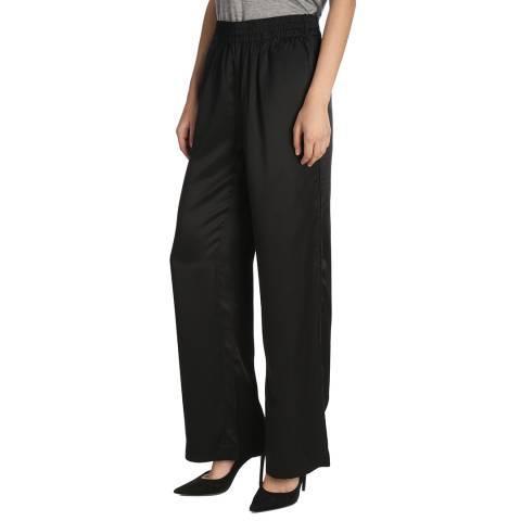 J Brand Black Ardon Wide Satin Trousers