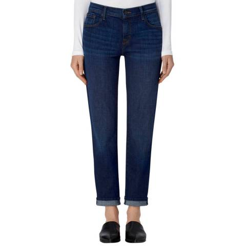 J Brand Cult Navy Johnny Boyfit Stretch Jeans