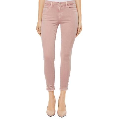 J Brand Vinca Destruct Pink 835 Capri Skinny Stretch Jeans