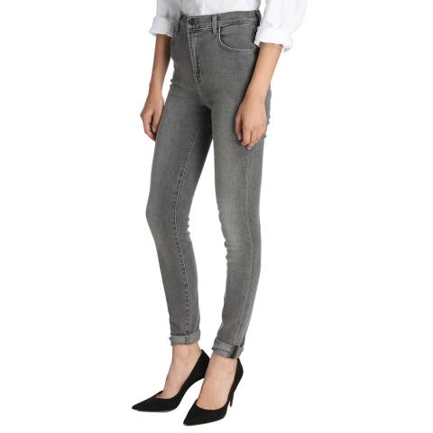 J Brand Grey Carolina Skinny Stretch Jeans