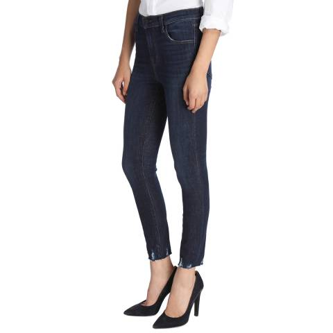 J Brand Dark Fantasy Blue Alana Cropped Skinny Stretch Jeans