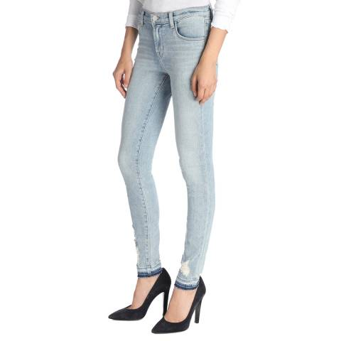 J Brand Arise Destruct Blue 620 Skinny Stretch Jeans