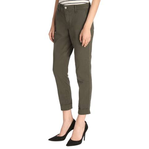 J Brand Khaki Josie Tapered Stretch Trousers