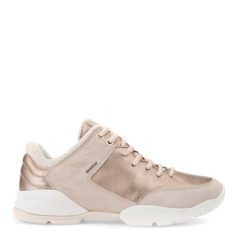 Geox Women's Champagne Sfinge Lace Up Sneakers